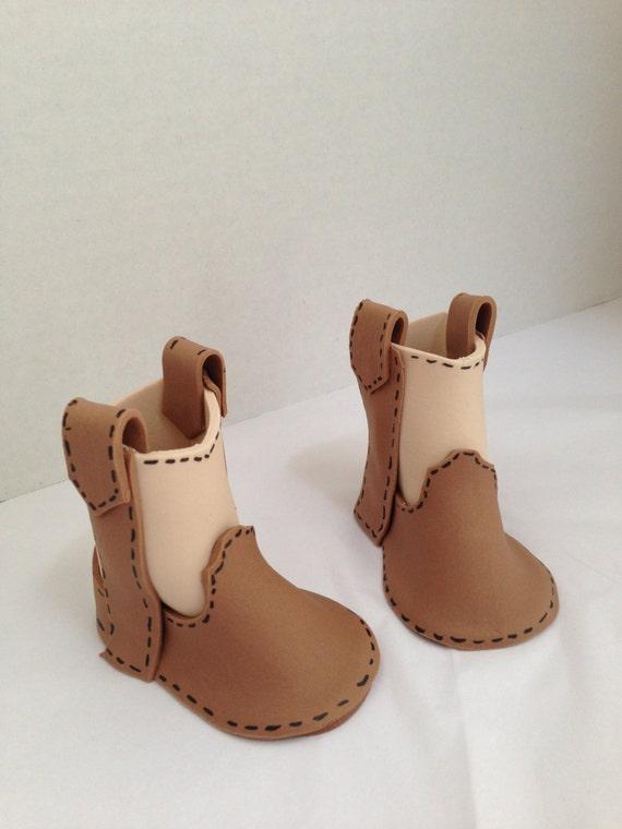 fondant cowboy boots