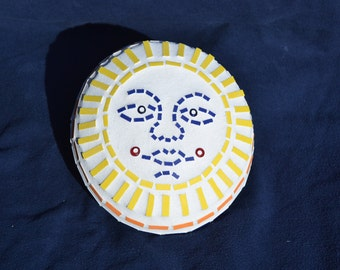 Mosaic Garden Art, Door Stop, Paper Weight - Sun Design