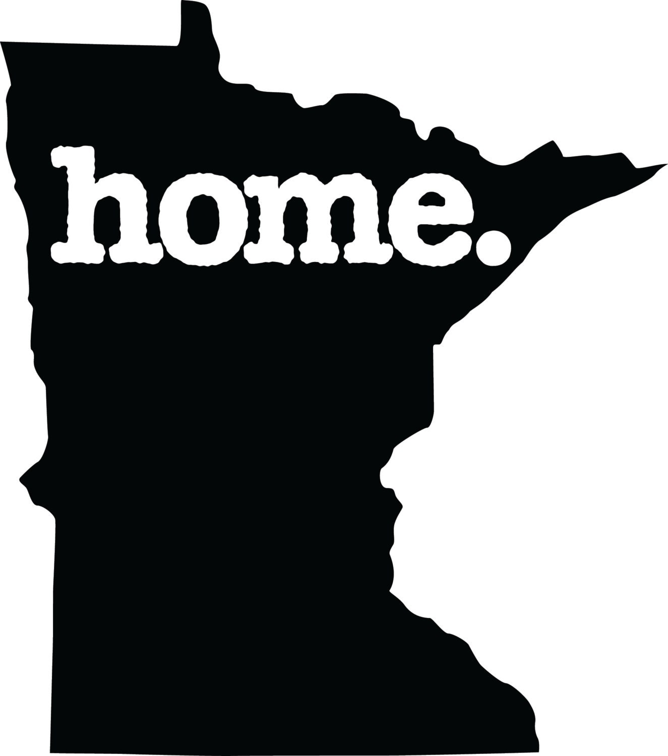 Minnesota Home Decal Car Or Laptop Sticker By