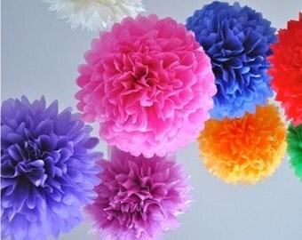 50pcs 10inch Tissue Paper Ball Wedding Decoration Pom Poms Party Birthday Bridal Flower Ball Celebration Gift