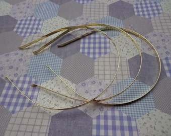 Gold headbands--20 pcs 5mm gold metal headbands