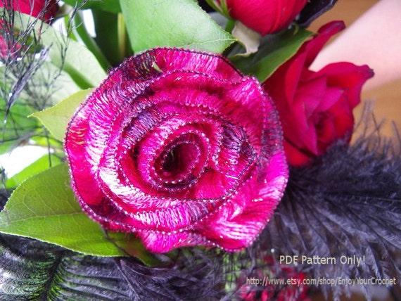 CROCHET ROSE PATTERN Crochet pattern Fall Flower Flower