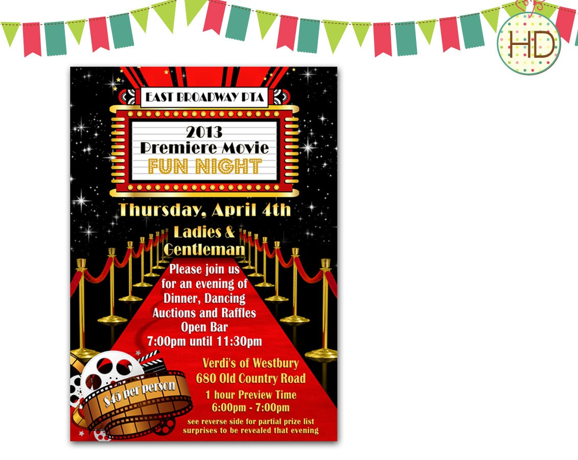 Movie Premiere Invitation as adorable invitations design