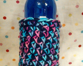 Crochet Handmade Thick Two Yarn Soda Can or Beer Bottle Cozy