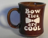 Bow Ties Are Cool Dr Who Mug Etched Ceramic Mug - CyberGlassware