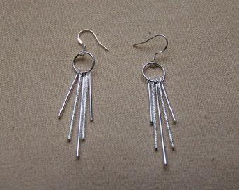 Sterling Silver Dangle Earrings, Modern Earrings, Fashion Earrings, JEW000025