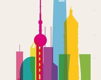 Shapes of Shanghai art print