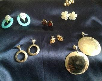 Retro pierced earrings