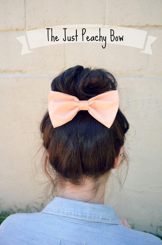 Peach colored Hair Bow