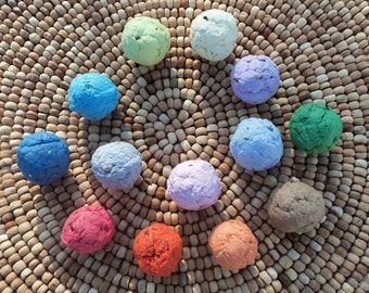 Seed Bombs Plantable Flower Paper Pulp Set of 100