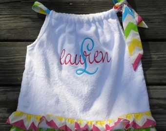 Monogrammed Chevron Swimsuit/Bathing Suit Coverup...Monogrammed Included