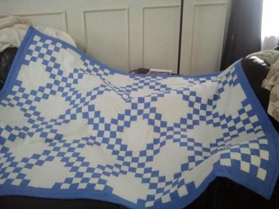 Double Irish Chain Queen sized quilt