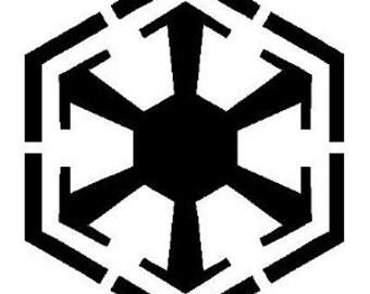 "Star Wars SITH Emblem 5"" Vinyl Decal Widow Sticker for Car, Truck, Motorcycle, Laptop, Ipad, Window, Wall, ETC"