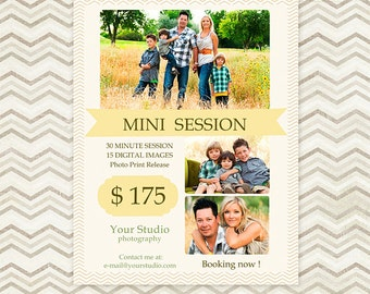 Mini Session - Photography Marketing Template 002 - C012, INSTANT DOWNLOAD