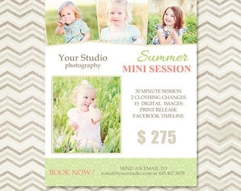 Mini Session - Photography Marketing Template - Summer Mini Session 015 - C048, INSTANT DOWNLOAD