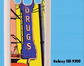 Vintage Drugs  Neon Sign in Bold Yellows And Blues iPhone Case 4, 4s, 5, 5C, 6, 6+ and Samsung Galaxy 3, 4, 5, 6, Edge