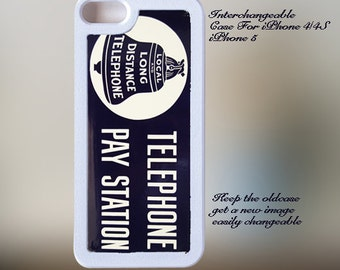 Vintage Bell Telephone Sign iPhone Case 4, 4s, 5, 5C, 6, 6+ and Samsung Galaxy 3, 4, 5, 6, Edge