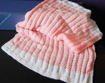 Stockinette/Garter Rib Baby Blanket
