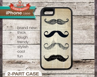 Mustaches 22 on Vintage Dictionary Page - - iPhone 6, 6+, 5 5S, 5C, 4 4S, Samsung Galaxy S3, S4