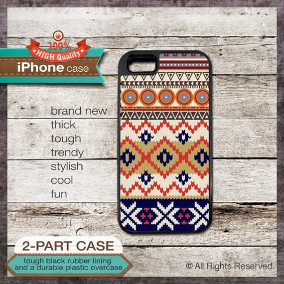 iPhone 6, 6+, 5 5S, 5C, 4 4S, Samsung Galaxy S3, S4 - Navajo Tribal Pattern - Design Cover 27