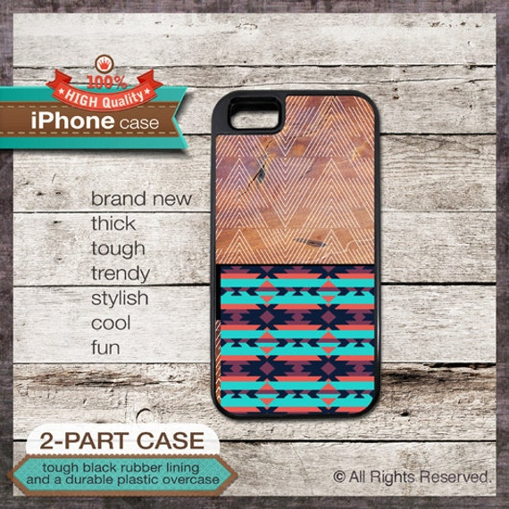 iPhone 6, 6+, 5 5S, 5C, 4 4S, Samsung Galaxy S3, S4 - Tribal Design Wood Pattern - Design Cover 31