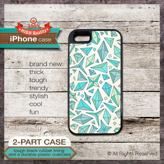 iPhone 6, 6+, 5 5S, 5C, 4 4S, Samsung Galaxy S3, S4 - Geo Pattern - Design Cover 38