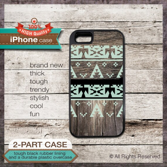 iPhone 6, 6+, 5 5S, 5C, 4 4S, Samsung Galaxy S3, S4 - Native American Tribal Wood Pattern - Design Cover 41