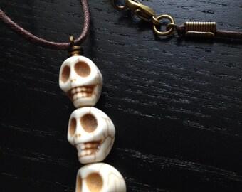 Cream Skull Pendant