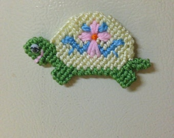 Turtle Magnet Needlepoint Plastic Canvas