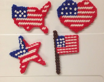 Set of July Fourth Magnets