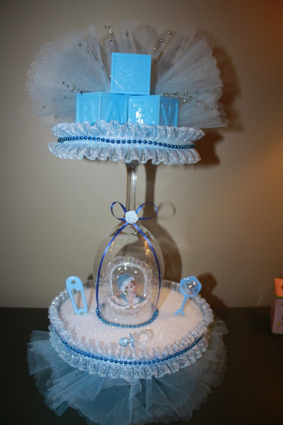 Baby shower centerpiece by maylin201 on etsy - Mesa de baby shower nino ...