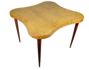 """Paul Frankl """"Cloud"""" Cork Top Table for Johnson Furniture"""