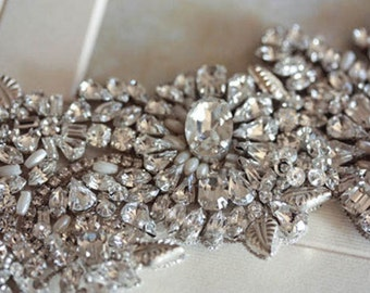 Crystal Bridal Headpiece - Beau (Made to Order)