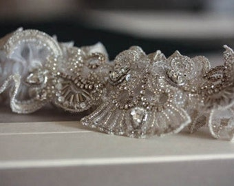 Bridal Garter Set - Seeds  (Made to Order)