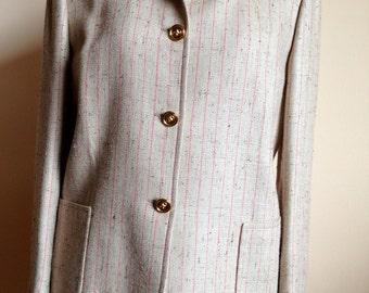 Celine natural silk suit, skirt and jacket, spring wedding