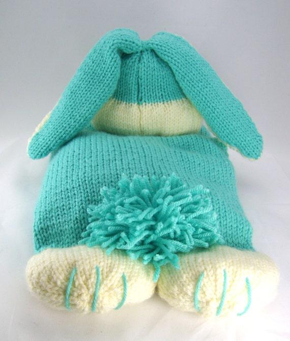 Drawing Knitting Pattern : Knitting pattern the happy bunny pyjama case