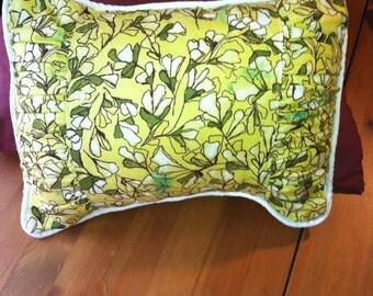 Adorable yellow spring floral throw pillow