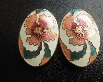 """7/16"""" (11mm) Flower Pink Hider Plugs for Stretched Ears"""