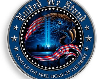 United We Stand Round Decal 12 Inch Decal Product Code SKU: Ff2067-D12
