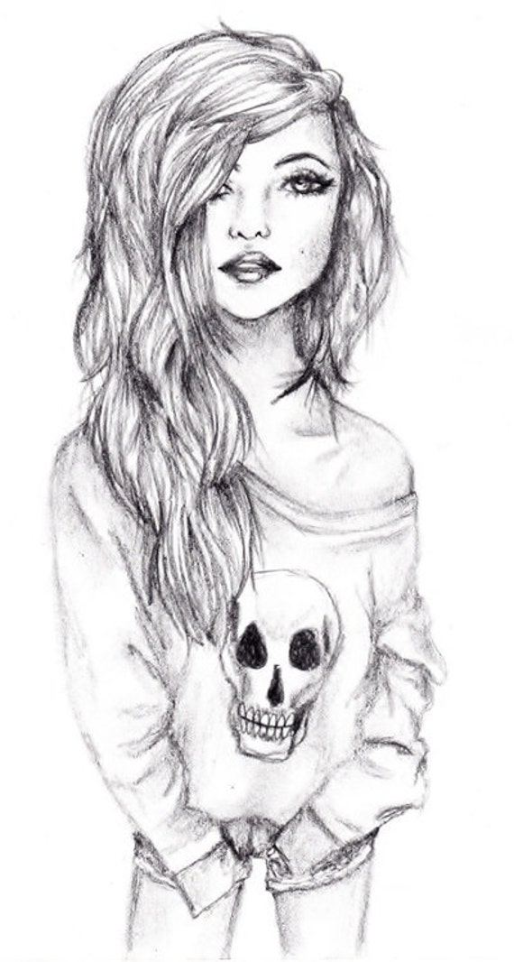 Glamour Girl drawing