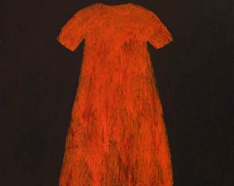 RED DRESS (Vestido Rojo) is a gorgeous archival inkjet print. A limited edition on a 100% cotton paper.