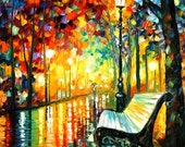 "She Left... — Palette Knife Abstract Landscape Oil Painting On Canvas By Leonid Afremov. Size: 30"" X 36"" Inches (75 cm x 90 cm)"