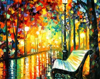 "Modern Art Abstract Painting On Canvas By Leonid Afremov - She Left...  Size: 30"" X 36"" Inches (75 cm x 90 cm)"