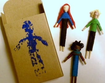 Handmade Thread & Toothpick Dolls with Unique Likeness