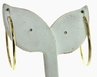 Gold Plated - Hand Crafted (Large) Round Hoop Earrings