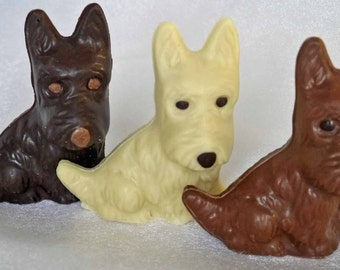 Hand-made Belgian chocolate Westie/Scottie dog