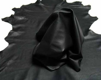 ITALIAN Lambskin Leather Hide for Garment Clothing Handbags Accessories Genuine Lamb Skin, Std Black, 1 Sq. Ft. = Approx Surf 12″ W X 12″ L