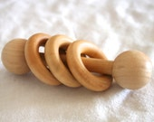 Wooden Baby Rattle - Mont...