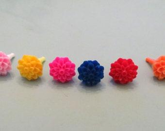 Choose your color-- Dahlia cell phone charm, dust plug charm, shower favor