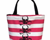 Skulls on Hot Pink Tote
